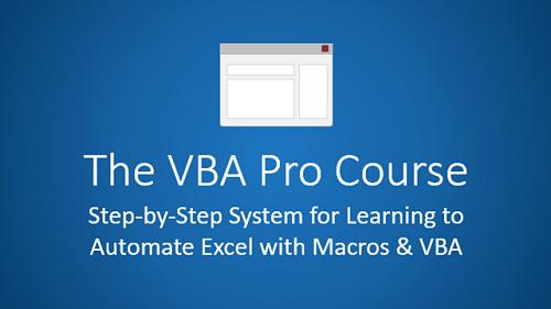 VBA Pro Course Beginner to Pro